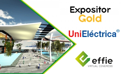 Unieléctrica expositor Gold
